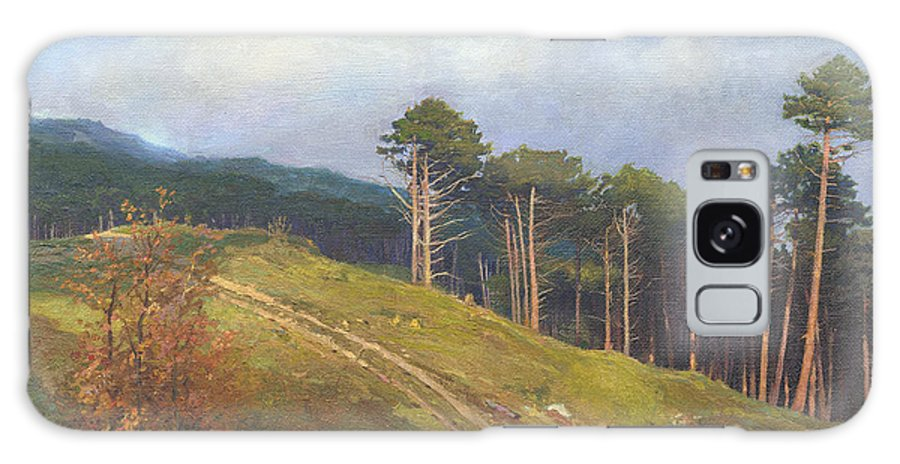 Galaxy S8 Case featuring the painting In The Crimean Mountains  by Denis Chernov
