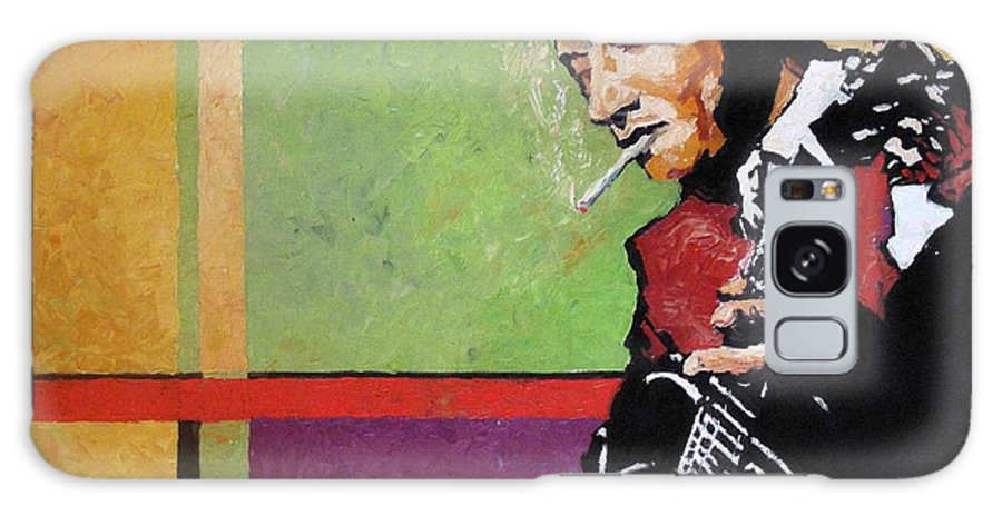 Jazz Galaxy S8 Case featuring the painting Jazz Guitarist by Yuriy Shevchuk