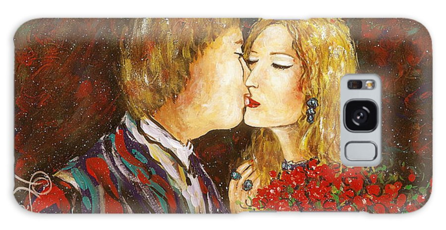 Passion Galaxy Case featuring the painting Kiss by Natalie Holland