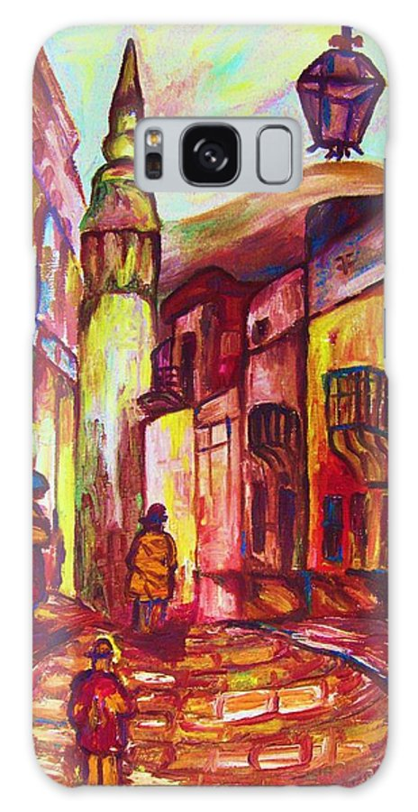 Paris Galaxy S8 Case featuring the painting Montmartre by Carole Spandau
