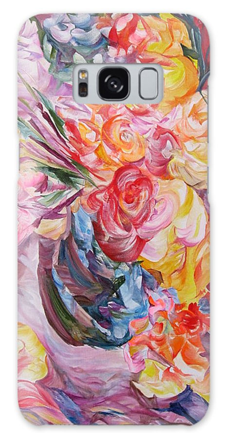 Abstract Galaxy S8 Case featuring the painting My Bouquet by Maya Bukhina
