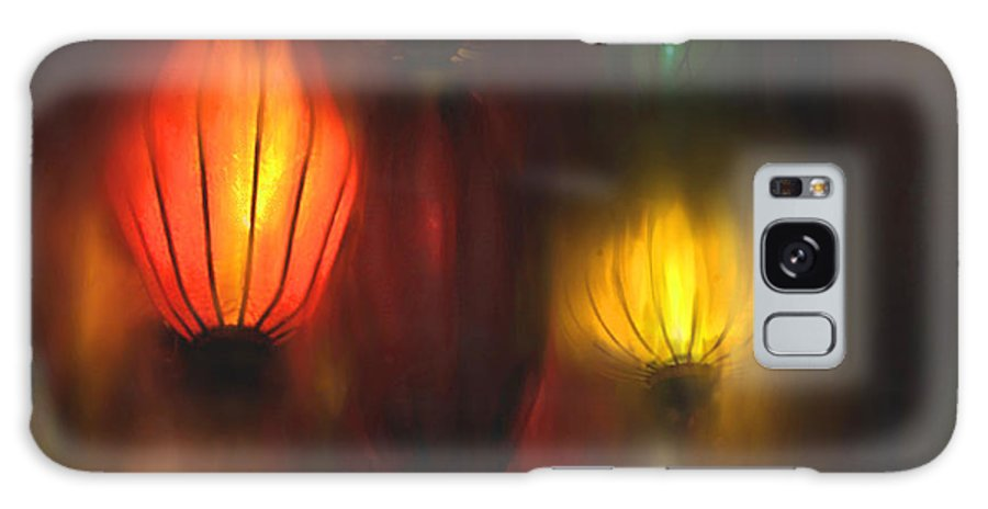 Lanterns Galaxy S8 Case featuring the painting Orange Lantern by Stephen Lucas
