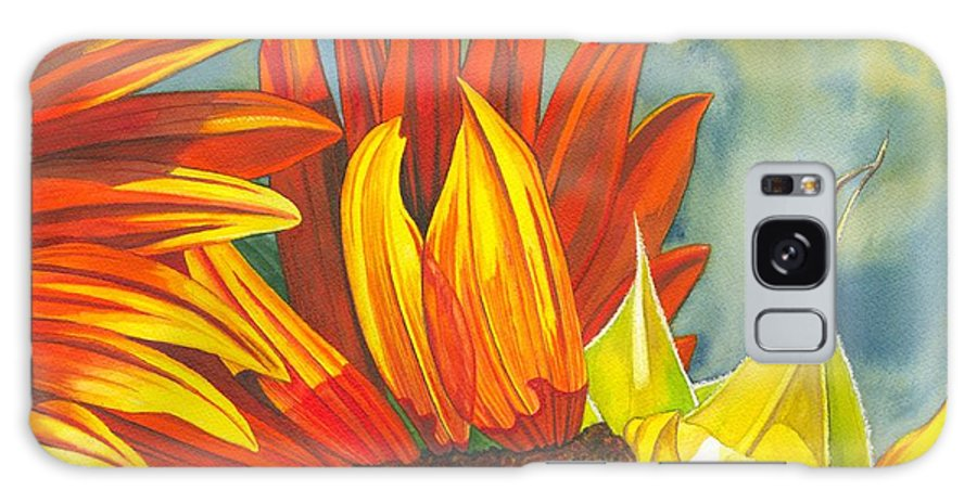 Sunflower Galaxy Case featuring the painting Ray by Catherine G McElroy