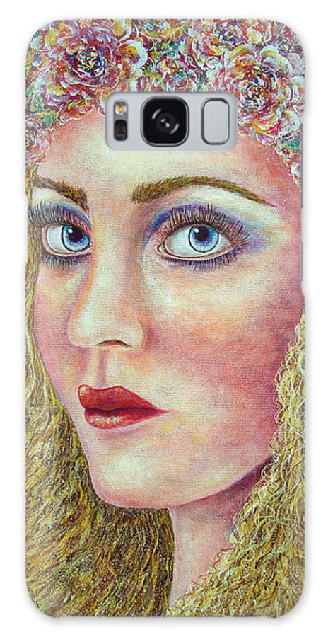 Woman Galaxy S8 Case featuring the painting  The Flower Girl by Natalie Holland