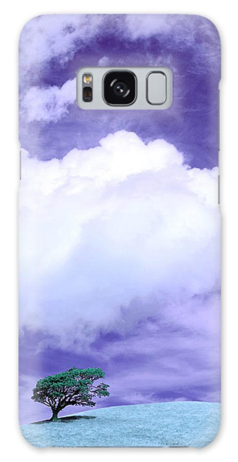 Tree Galaxy S8 Case featuring the photograph Tree Clouds Hill by Mal Bray