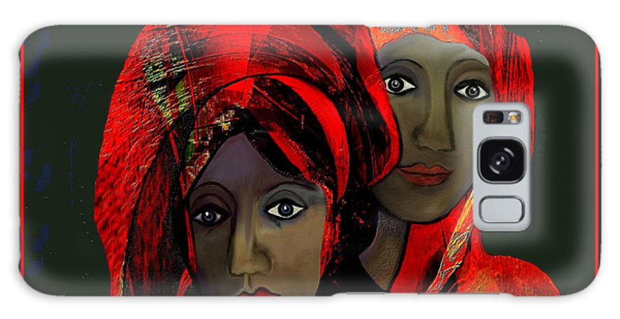 0000 Colour Of Passion 2017 Galaxy S8 Case featuring the digital art 2032 - Colour Of Passion 2017 by Irmgard Schoendorf Welch
