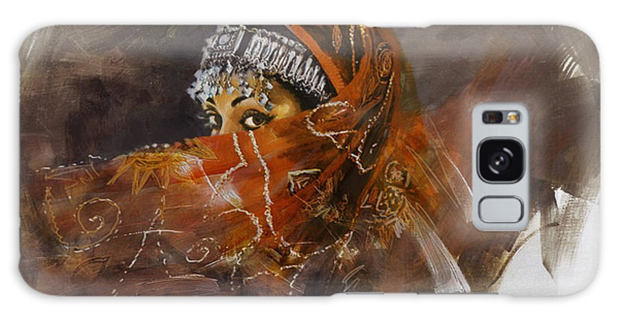 Attan Dance Galaxy S8 Case featuring the painting 002 Pakhtun by Mahnoor Shah
