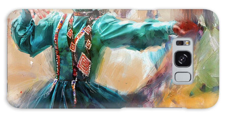 Attan Dance Galaxy S8 Case featuring the painting 011 Pakhtun B by Mahnoor Shah