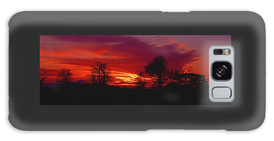 Sunset Galaxy Case featuring the photograph 022107-37 by Mike Davis