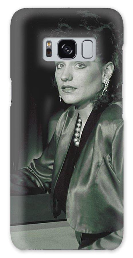 Portrait Galaxy Case featuring the photograph 092508-3  Cheri by Mike Davis