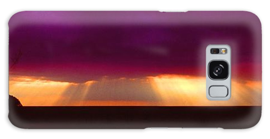 Sunset Galaxy Case featuring the photograph 092908-4 by Mike Davis