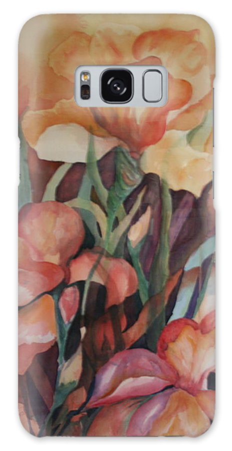 Flowers Galaxy S8 Case featuring the painting Rainbow by Donna Steward