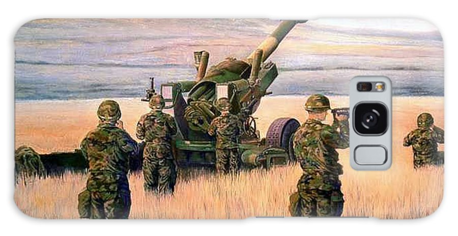 Signed And Numbered Prints Of The Montana National Guard Galaxy Case featuring the print 1-190th Artillery by Scott Robertson