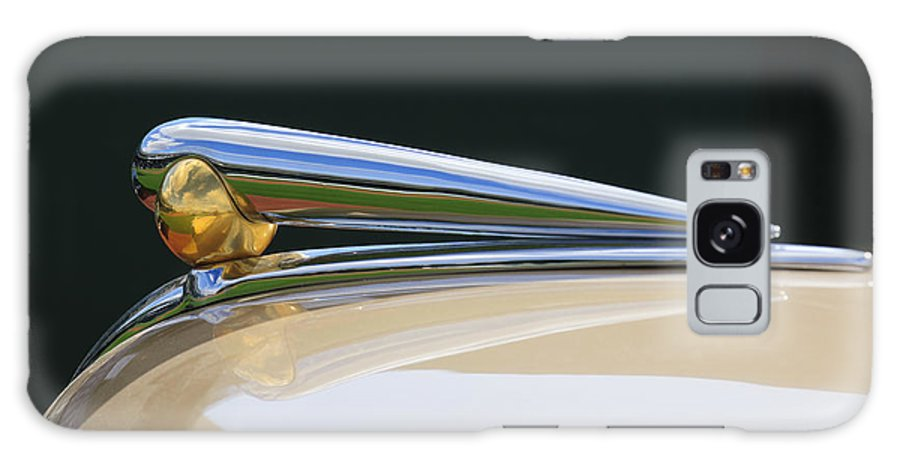 1941 Lincoln Continental Galaxy S8 Case featuring the photograph 1941 Lincoln Continental Hood Ornament 2 by Jill Reger