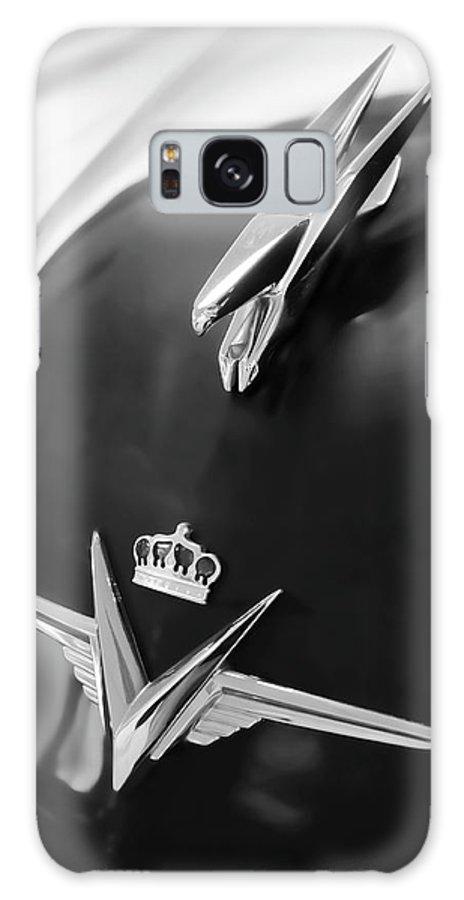 1954 Chrysler Imperial Sedan Galaxy S8 Case featuring the photograph 1954 Chrysler Imperial Sedan Hood Ornament 3 by Jill Reger