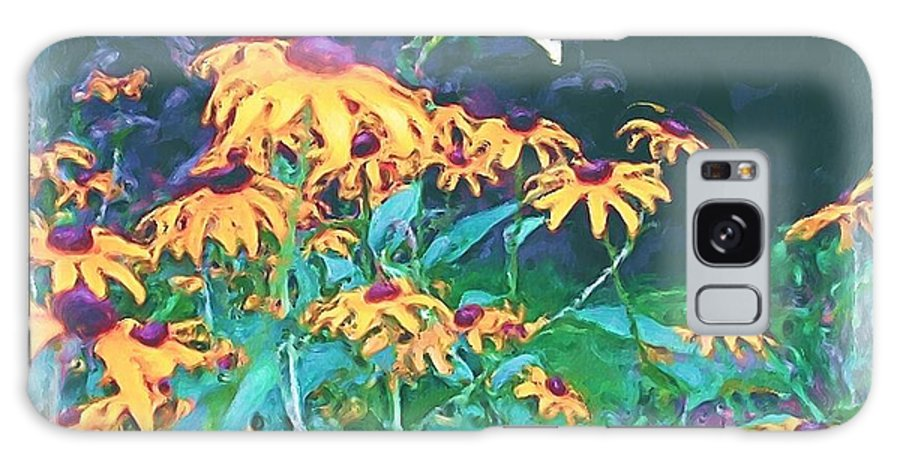 Mixed Media Galaxy S8 Case featuring the painting A Lily In The Field by Patricia Griffin Brett