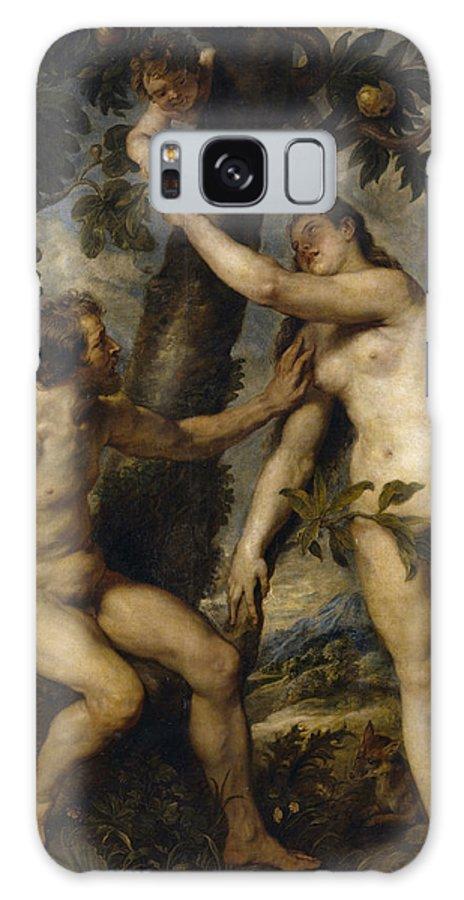 Peter Paul Rubens Galaxy S8 Case featuring the digital art Adam And Eve by Peter Paul Rubens