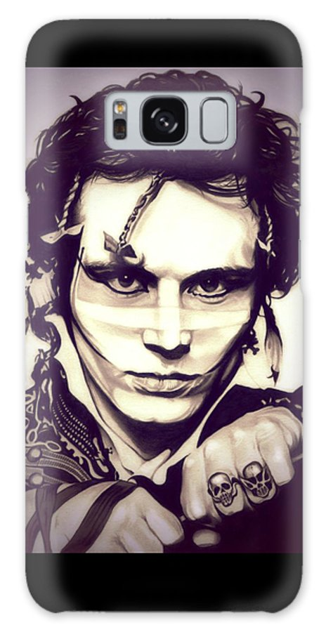 Adam Ant Galaxy S8 Case featuring the drawing Adam Ant by Fred Larucci