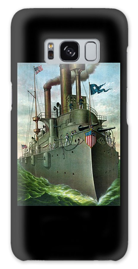 George Dewey Galaxy S8 Case featuring the painting Admiral Dewey's Flagship Olympia by War Is Hell Store
