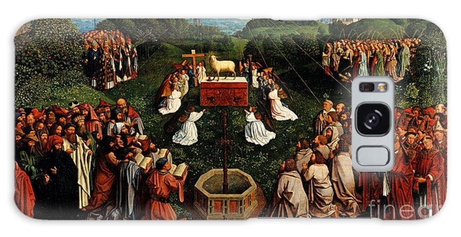 Adoration Of The Mysticlamb Galaxy S8 Case featuring the painting Adoration Of The Mystic Lamb by Hubert Eyck and Jan van Eyck