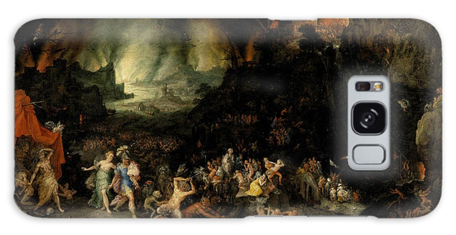 Jan Brueghel The Elder Galaxy S8 Case featuring the painting Aeneas And Sibyl In The Underworld by Jan Brueghel the Elder
