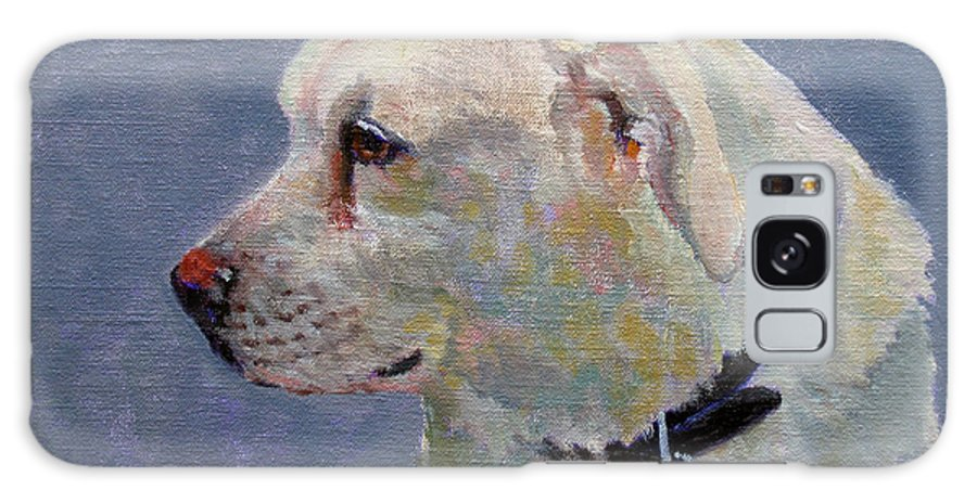 Dog Galaxy S8 Case featuring the painting Alex by Keith Burgess