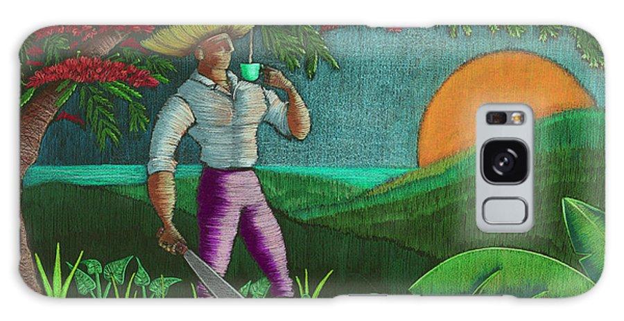 Puerto Rico Galaxy Case featuring the painting Amanecer en Borinquen by Oscar Ortiz