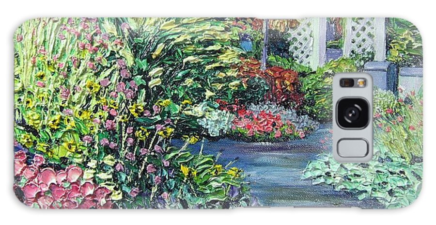 Garden Galaxy Case featuring the painting Amelia Park Pathway by Richard Nowak