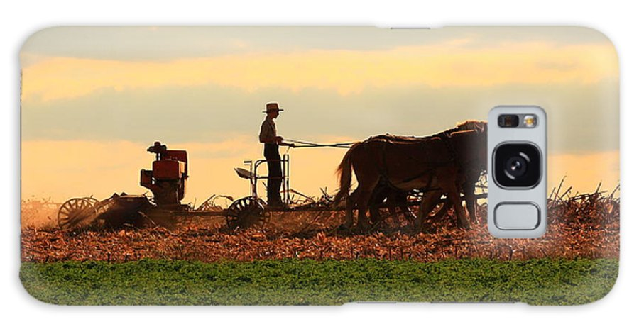 Amish Galaxy S8 Case featuring the photograph Amish Farmer by Lou Ford