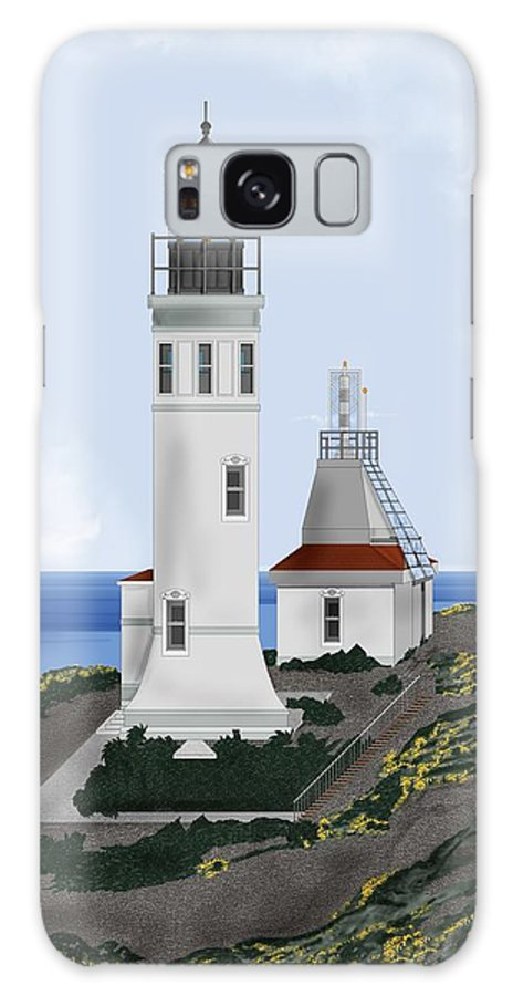 Lighthouse Galaxy S8 Case featuring the painting Anacapa Lighthouse California by Anne Norskog