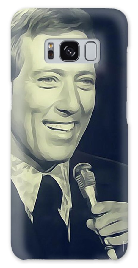 Andy Galaxy S8 Case featuring the digital art Andy Williams, Singer by John Springfield