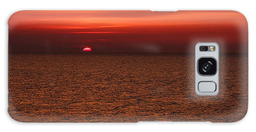 Abendstimmung Galaxy S8 Case featuring the photograph Angler In Summer Sunset by Heike Hultsch