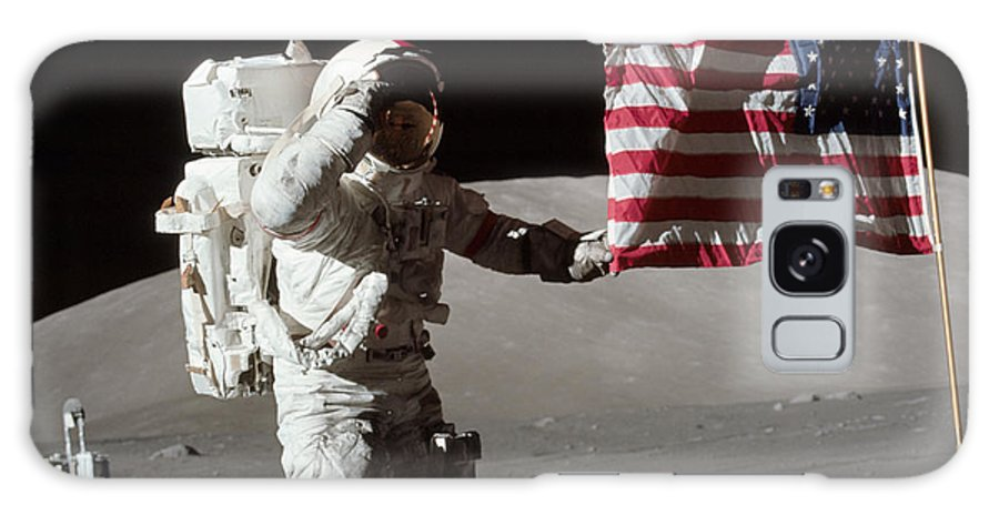 1972 Galaxy S8 Case featuring the photograph Apollo 17 Astronaut Salutes The United by Stocktrek Images