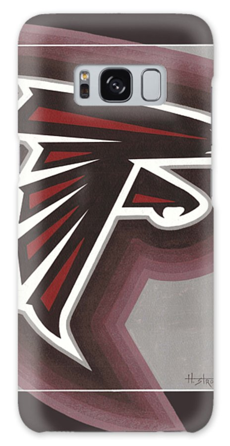 Galaxy S8 Case featuring the painting Atlanta Falcons Logo T-shirt by Herb Strobino