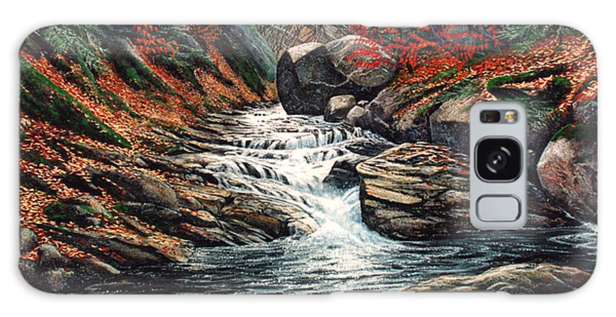 Landscape Galaxy Case featuring the painting Autumn Brook by Frank Wilson