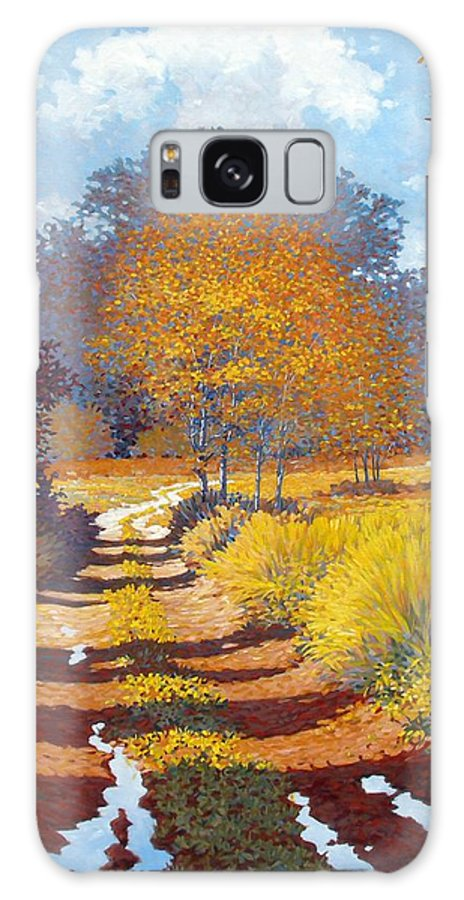 Landscape Galaxy S8 Case featuring the painting Autumn by Kevin Lawrence Leveque