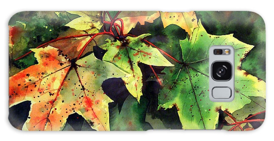 Watercolour Galaxy Case featuring the painting Autumn Leaves by Paul Dene Marlor