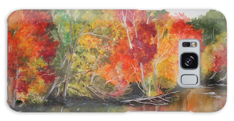 Autumn Galaxy Case featuring the painting Autumn Splendor by Jean Blackmer