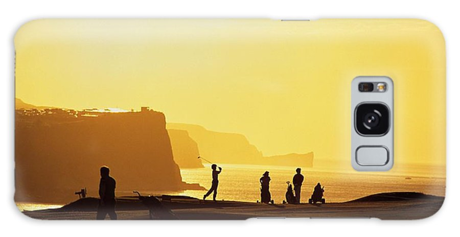 Antrim Coast Galaxy S8 Case featuring the photograph Ballycastle Golf Club, Co Antrim by The Irish Image Collection