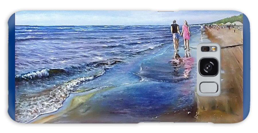 Sea Galaxy Case featuring the painting Baltic beach by Natalja Picugina