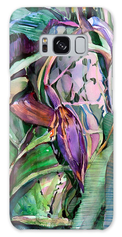 Banana Galaxy S8 Case featuring the painting Banana Pod by Mindy Newman