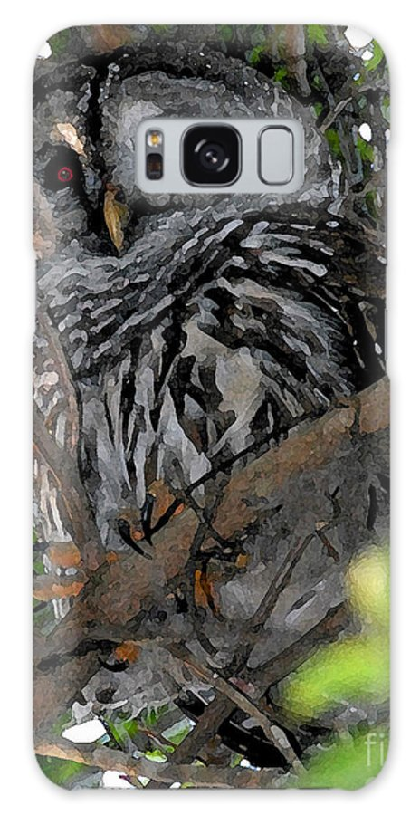Barred Owl Galaxy S8 Case featuring the painting Barred Owl by David Lee Thompson