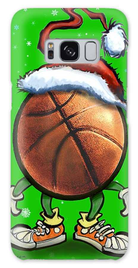 Basketball Galaxy S8 Case featuring the digital art Basketball Christmas by Kevin Middleton