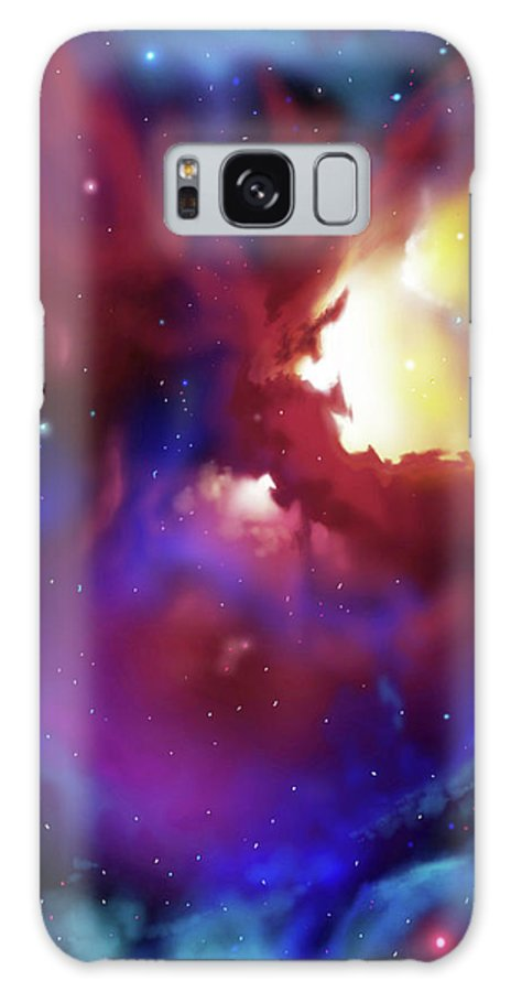 James Christopher Hill Galaxy Case featuring the painting Bat Nebula by James Christopher Hill