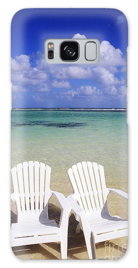 Ashore Galaxy S8 Case featuring the photograph Beach Chairs by Bill Bachmann - Printscapes