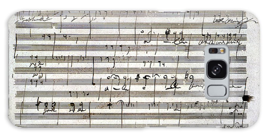 18th Century Galaxy Case featuring the drawing Beethoven Manuscript by Ludwig van Beethoven