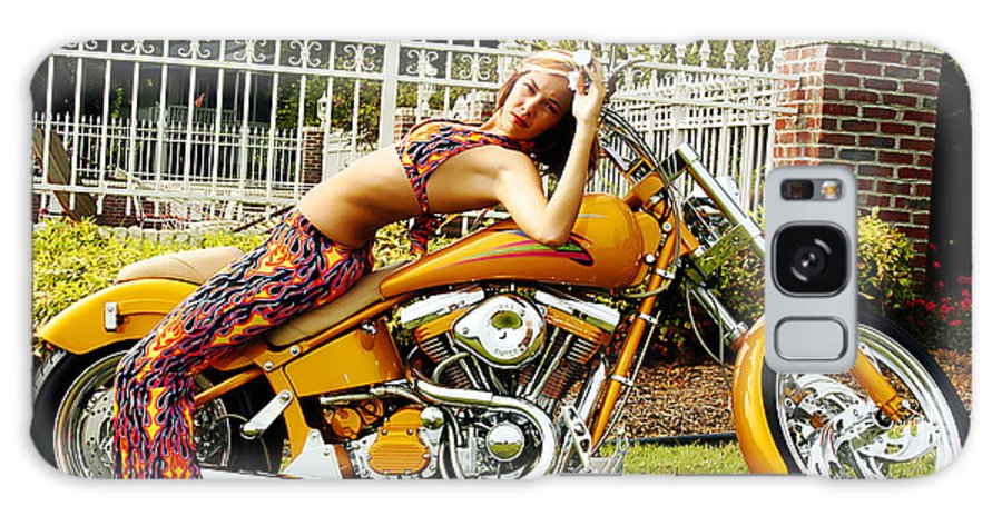 Clay Galaxy Case featuring the photograph Bikes And Babes by Clayton Bruster