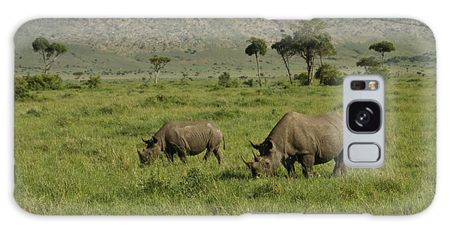 Africa Galaxy S8 Case featuring the photograph Black Rhinos by Michele Burgess