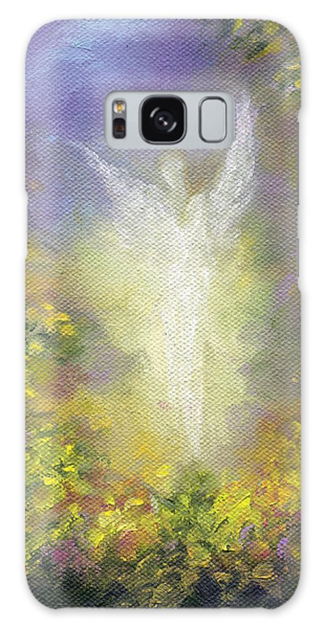Angel Galaxy S8 Case featuring the painting Blessing Angel by Marina Petro