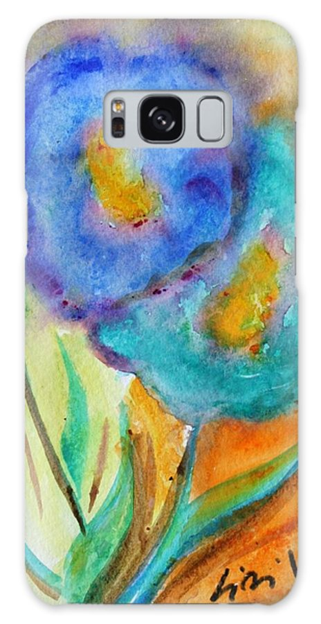 Flowers Galaxy S8 Case featuring the painting Blue Flowers by Luiza Vizoli